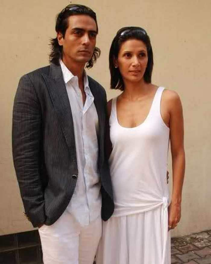 Arjun Rampal and Mehr Jessia- an old picture