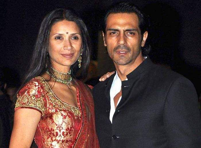 Arjun Rampal and Mehr Jessia at a function