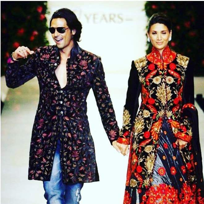Arjun Rampal and Mehr Jessia on the ramp
