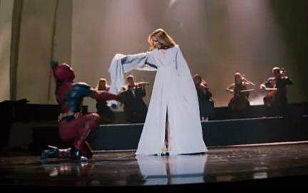 Deadpool Dances With Celine Dion In Her New Ashes Music Video!