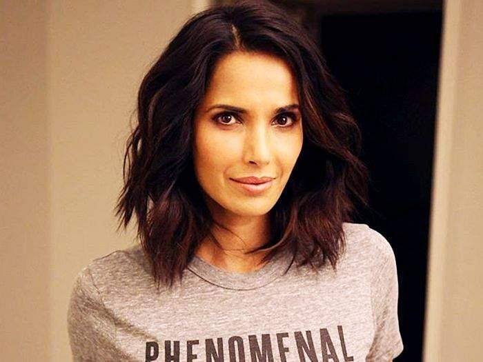 Padma Lakshmi Enjoys Pizza in a Sultry Bare Picture
