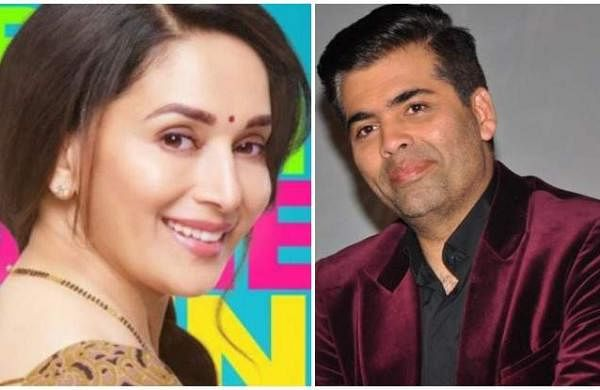 Madhuri Dixit and Karan Johar