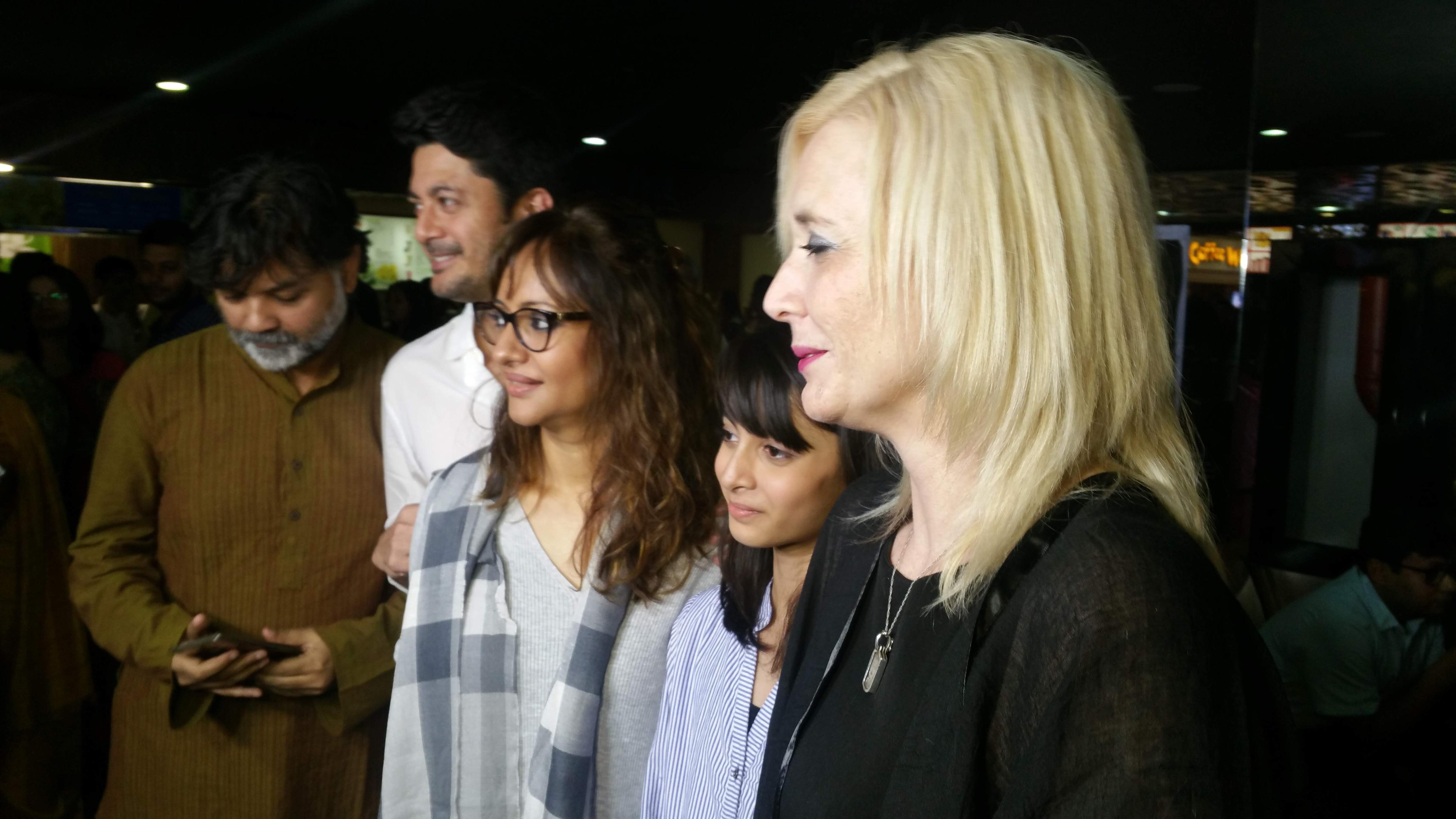 Director Srijit Mukherji with Jisshu Sengupta, Nilanjanaa Sengupta, Sara Sengupta and Nicole Wellwood.