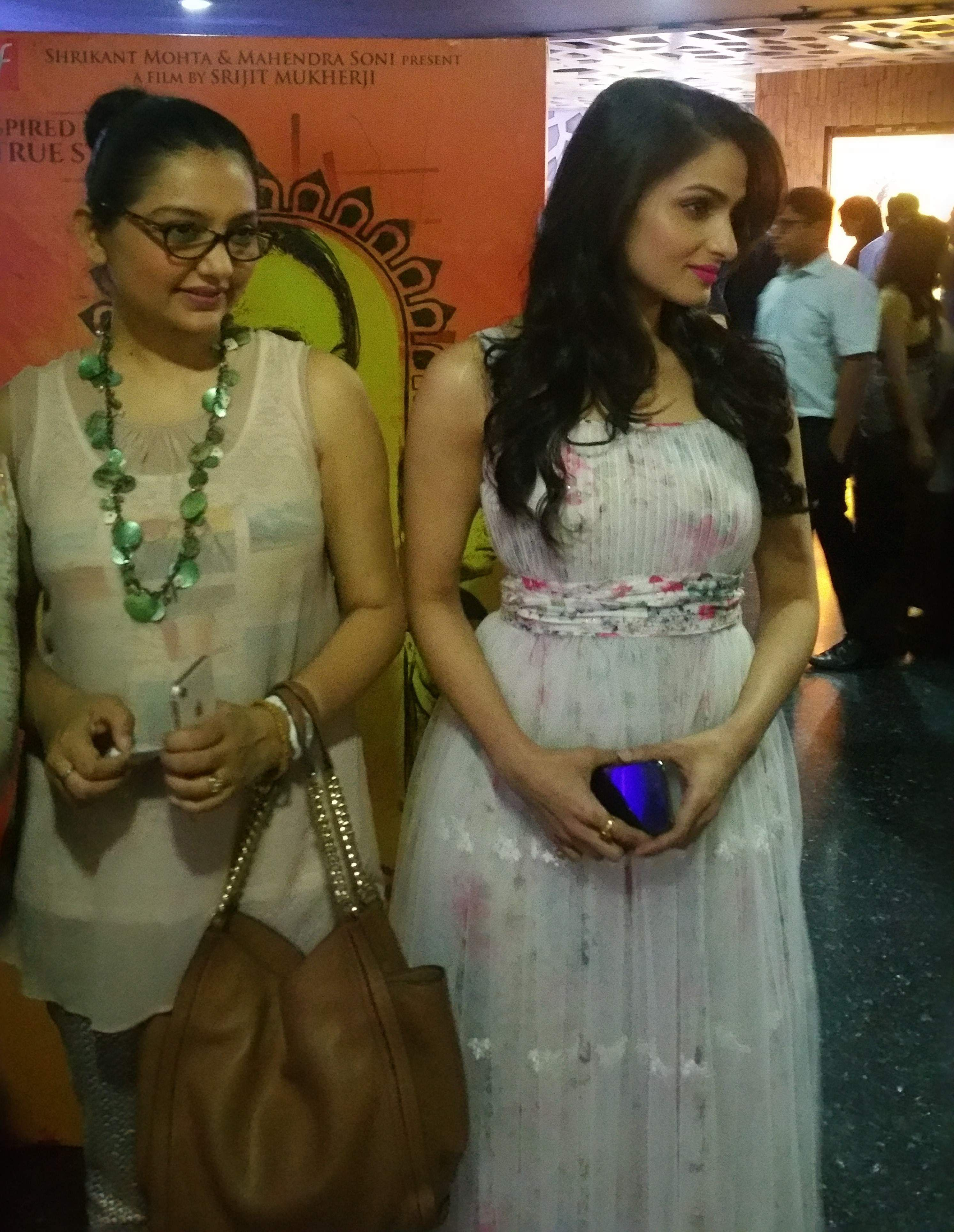 Actors June Malia and Tanusree Chakraborty.