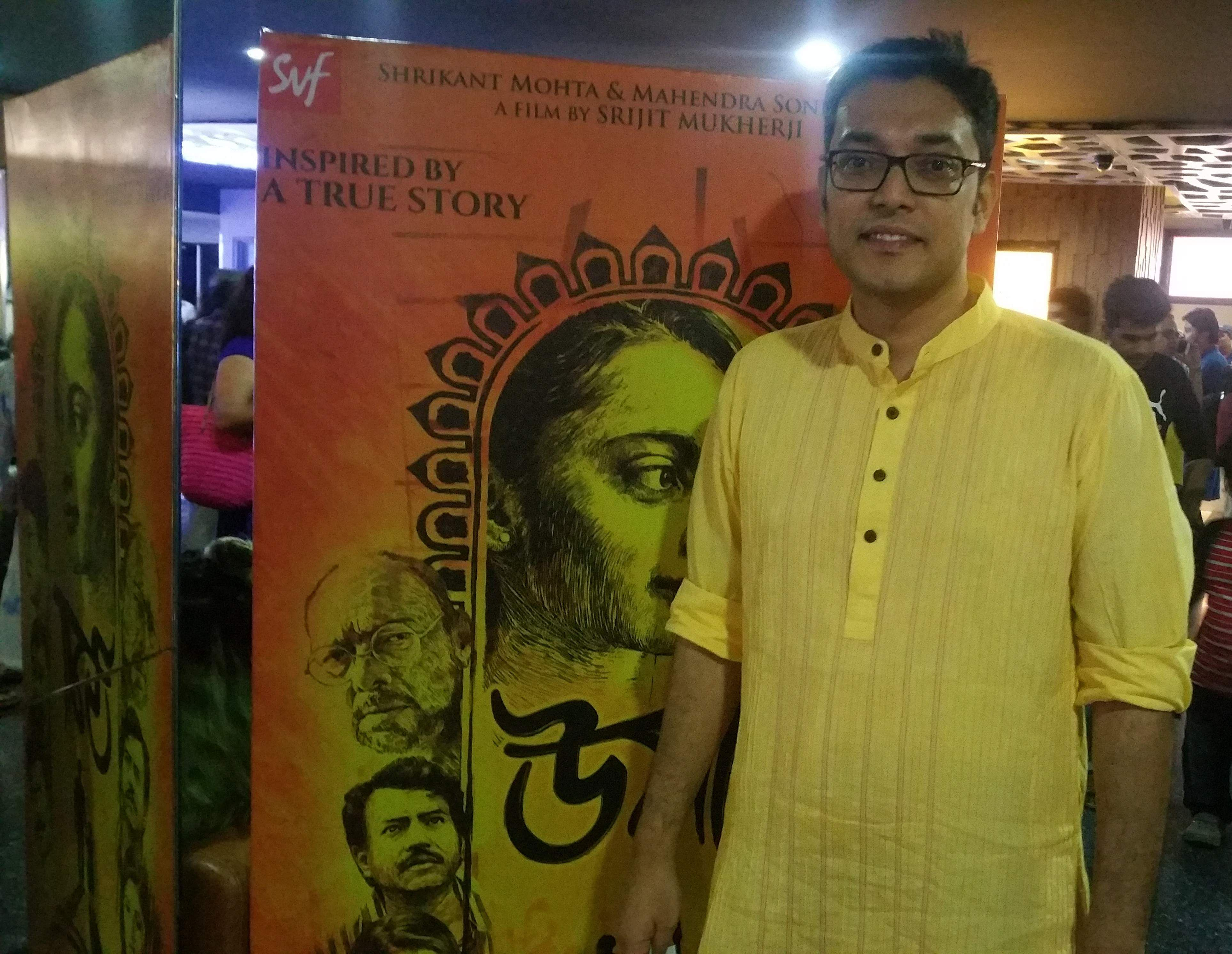 Singer and composer Anupam Roy, who composed for the film, at the special screening.