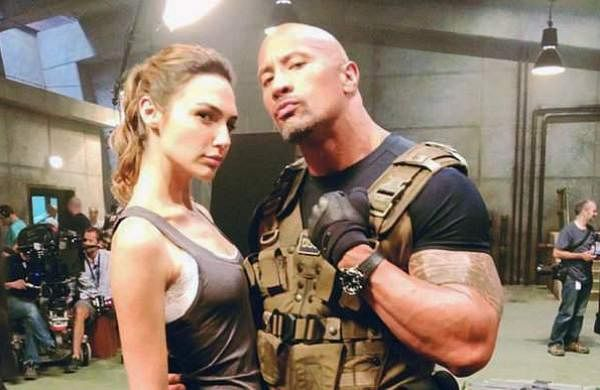 Gal Gadot and Dwayne Johnson