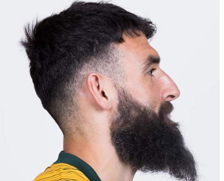Australia's captain, Mile Jedinak has also joined the group of interesting and most popular haircuts at this year's competition. Even at the age of 33 he manages to maintain the trend.