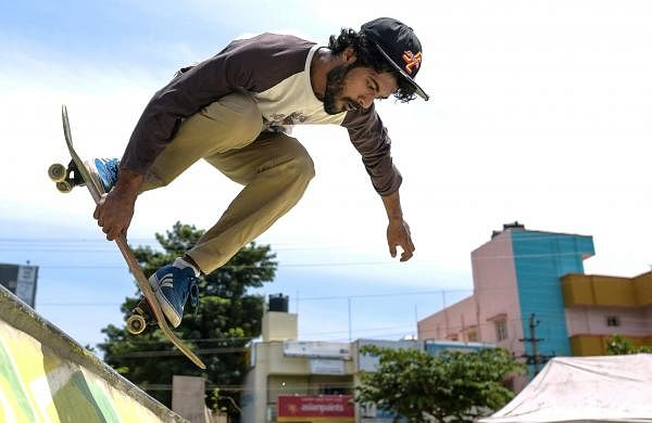 At one of the many skateparks built by Bengaluru-based collective HolyStoked (Pic by Poornabodh Nadavatti)