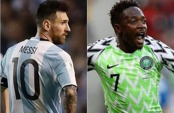 Lionel Messi and Ahmed Musa 2018 FIFA World Cup