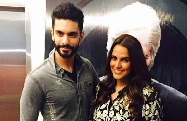 Angad Bedi and Neha Dhupia recent photo