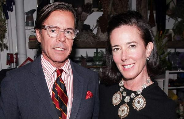 Kate Spade with husband Andy Spade