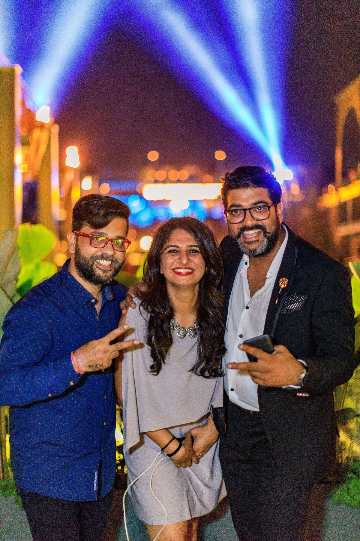 DJ_Ajay,_Tanya_Mulani_and_Pravesh_Pandey