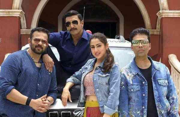 Rohit Shetty, Ranveer Singh, Sara Ali Khan, Karan Johar