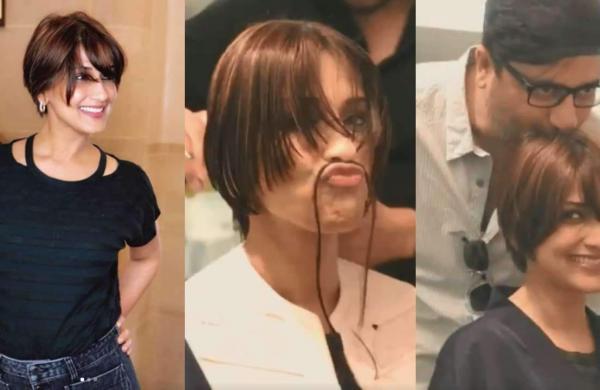 Actress Sonali Bendre new haircut