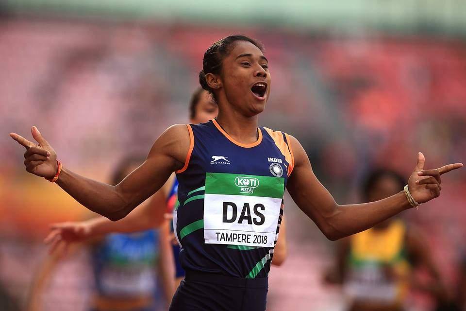India Hima Das gold medal photo