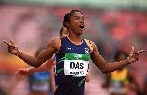 India Hima Das gold medal photo
