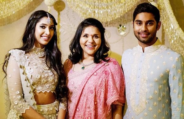 Shriya and Anindith with Sangita Reddy