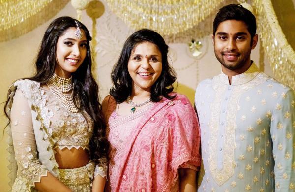 Shriya and Anindith with Sangita Reddy
