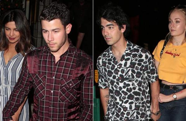 Priyanka Chopra and Nick Jonas, Joe Jonas and Sophie Turner