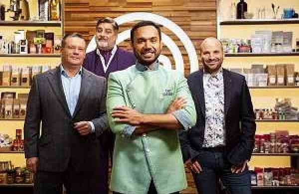 Saransh_Goila_with_MasterChef_Australia_judges_on_sets