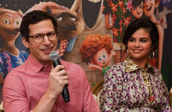 Andy Samberg and Selena Gomez Hotel Transylvania 3 photo