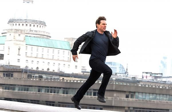 Tom Cruise in a chase sequence from Fallout