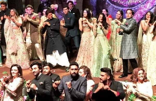 Bollywood stars perform flashmob at Akash Ambani's engagement