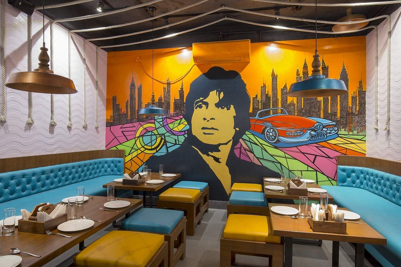 Bollywood movie themed restaurant