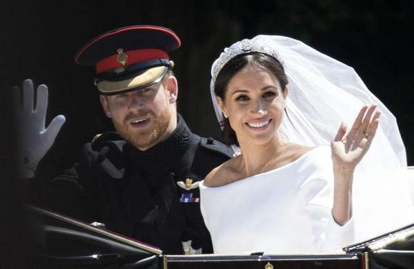 Meghan Markle reveals she had a patch of fabric from the dress she wore on first date with Prince Harry on her wedding dress