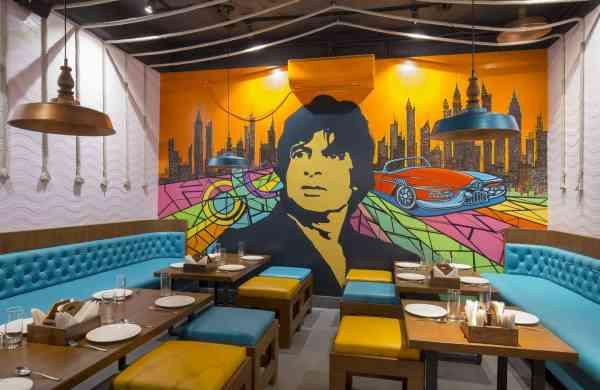 Bollywood movie themed restaurant