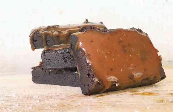 Dark chocolate fudge brownie at Zahan Gafoor