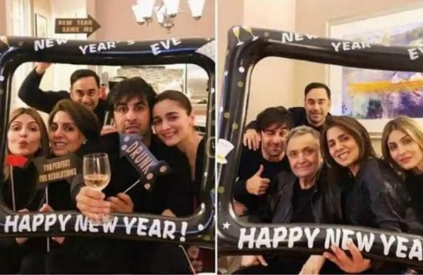 See all pictures: Alia Bhatt, Ranbir Kapoor celebrate New Year with family in New York
