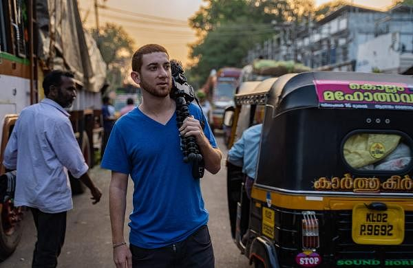 Drew Binsky surveying the streets of Kerala