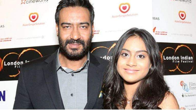 Ajay Devgn with Nysa