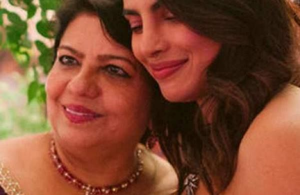 PPriyanka Chopra sharing a private moment with her mother, Madhu Chopra