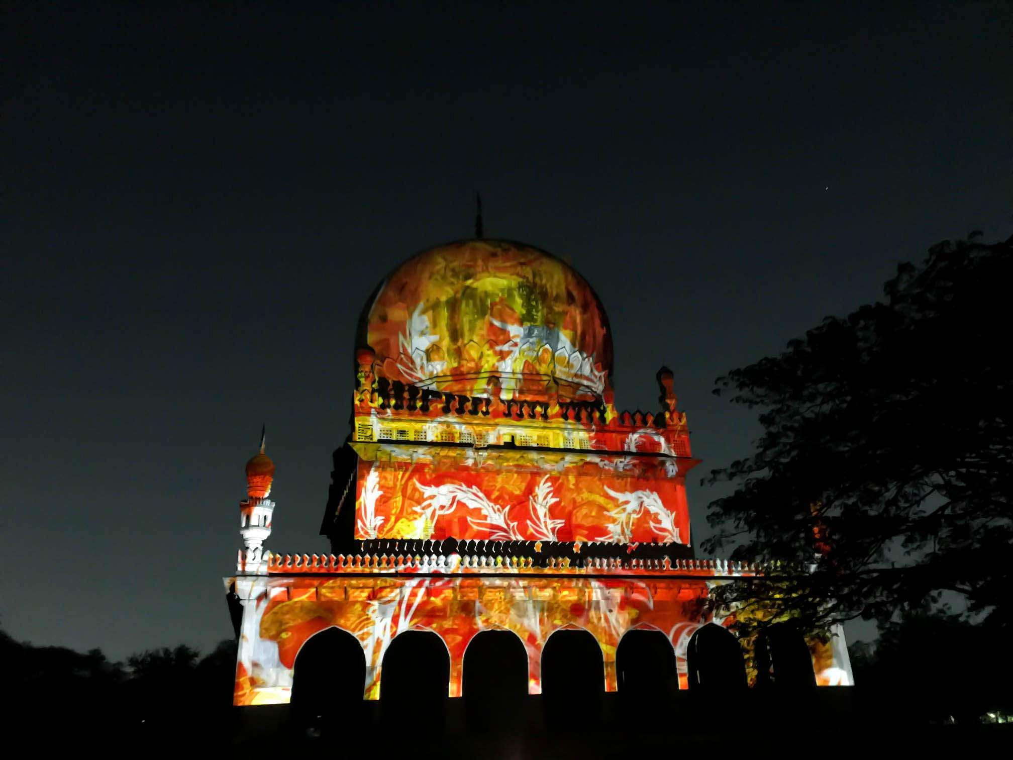 3D mapping show to Hyderabad
