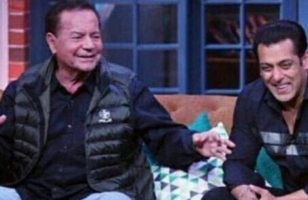 Salim Khan and Salman Khan on the Kapil Sharma Show