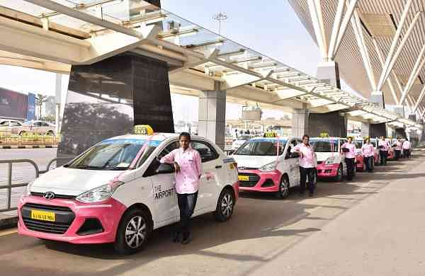 Women-only_taxi_service_launched_at_BLR_Airport_today