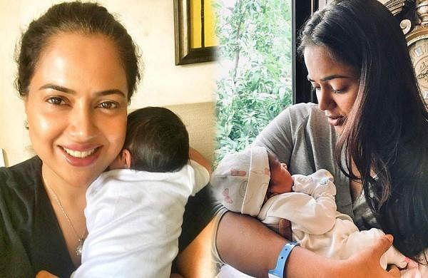 Sameera Reddy attempts to climb Karnataka's tallest peak carrying two-month-old daughter