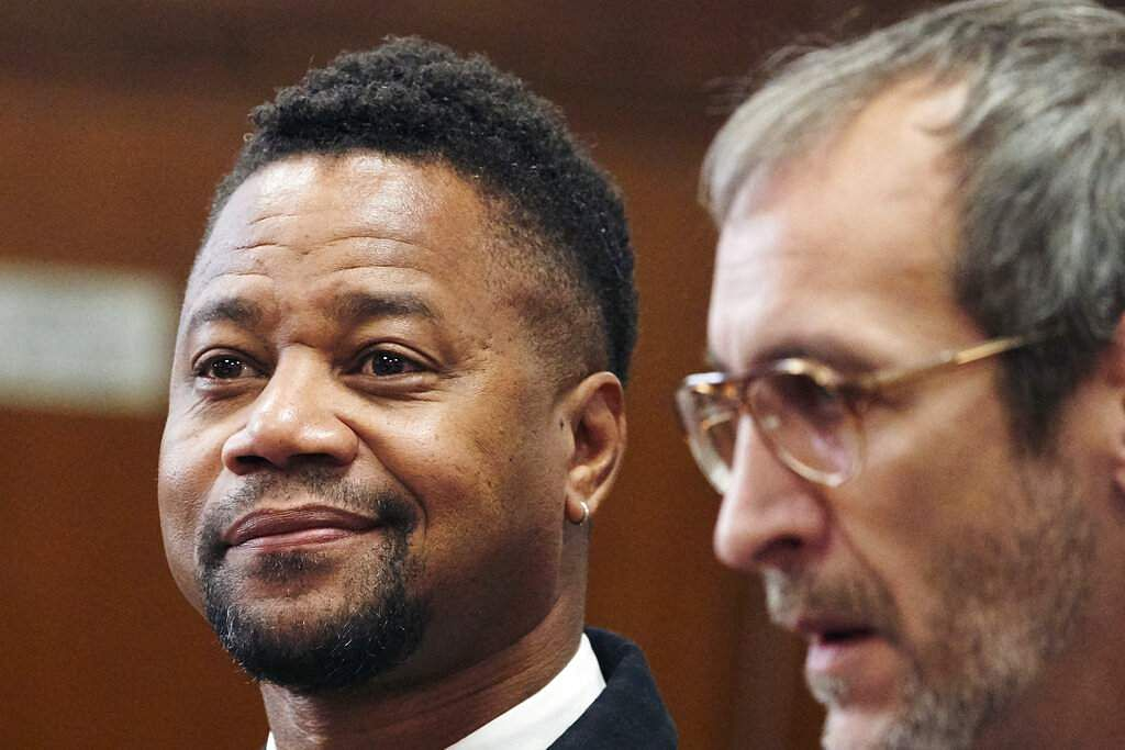 Cuba Gooding Jr in court (James Keivom/Daily Mail via AP, Pool)