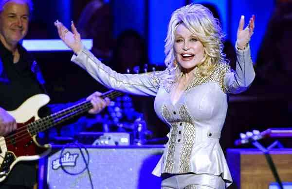 Dolly Parton at her 50th Opry Member Anniversary (Larry McCormack/The Tennessean via AP)