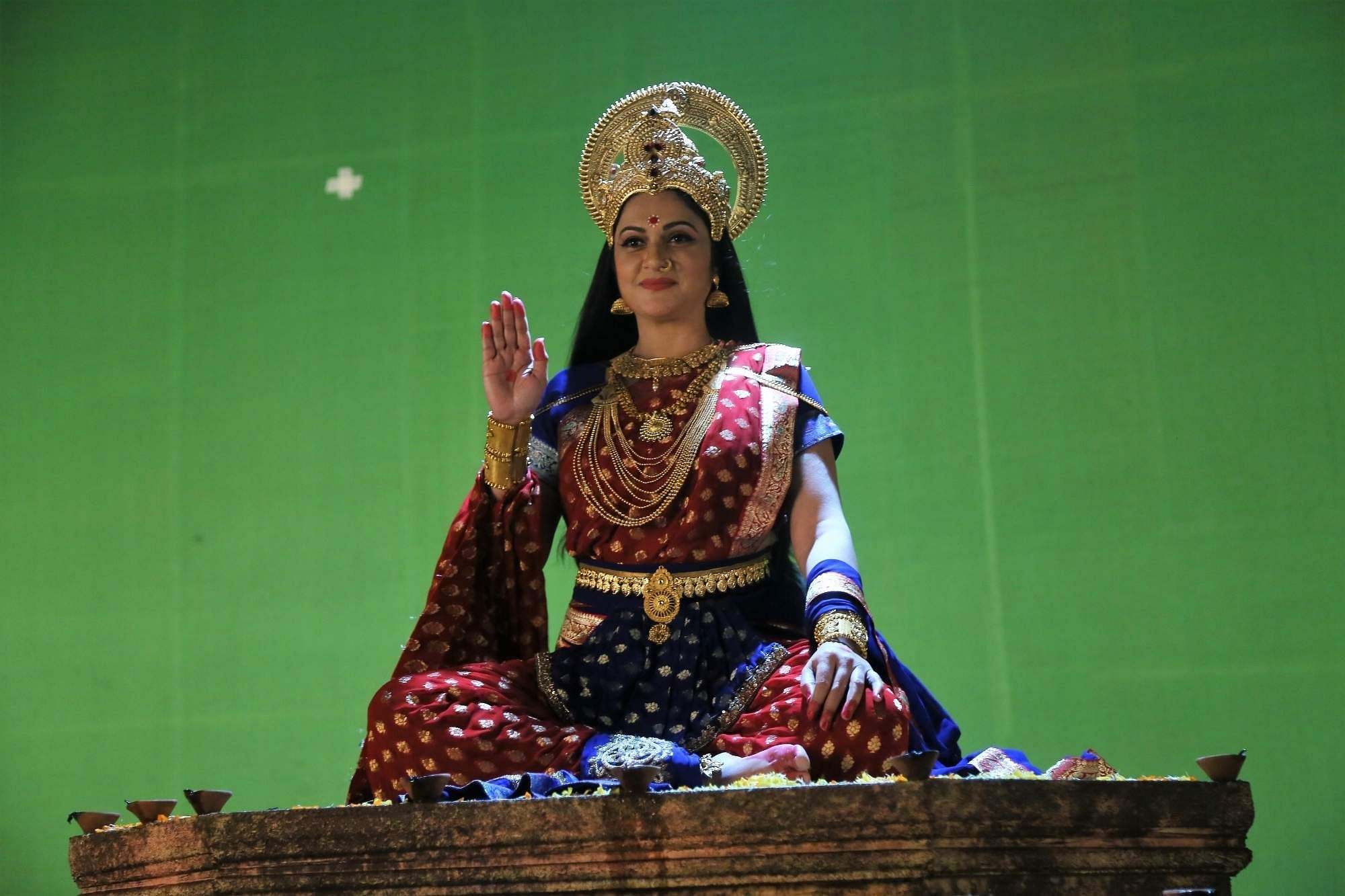 Gracy Singh as Goddess Santoshi Maa (Photo: IANS)