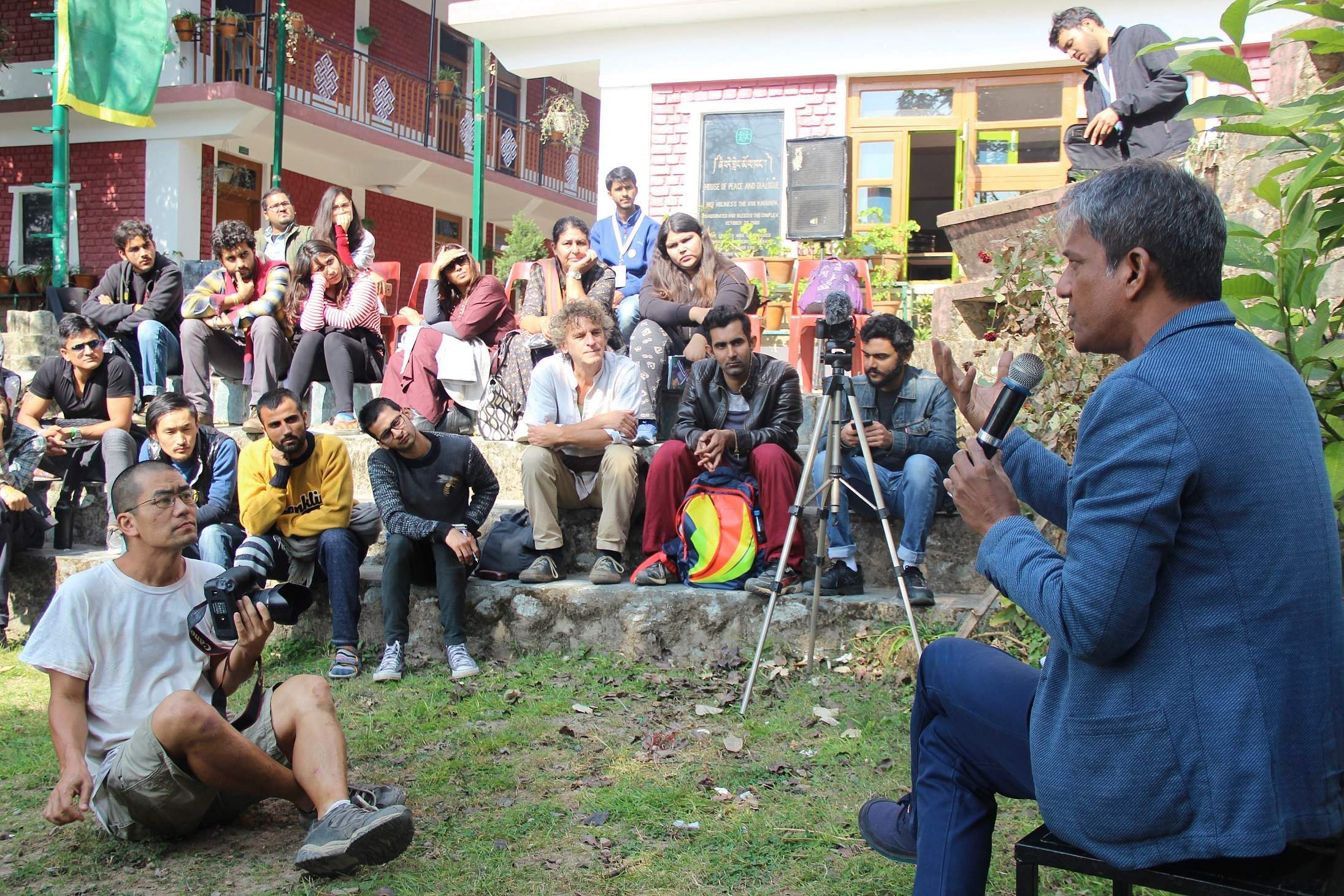 Adil Hussain hosts a Masterclass at Dharamshala