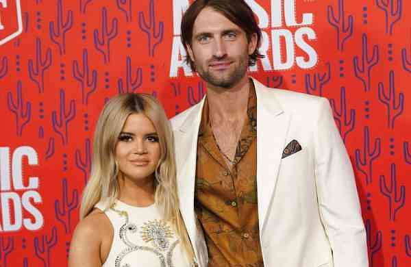 Maren Morris and Ryan Hurd (AP Photo/Sanford Myers)