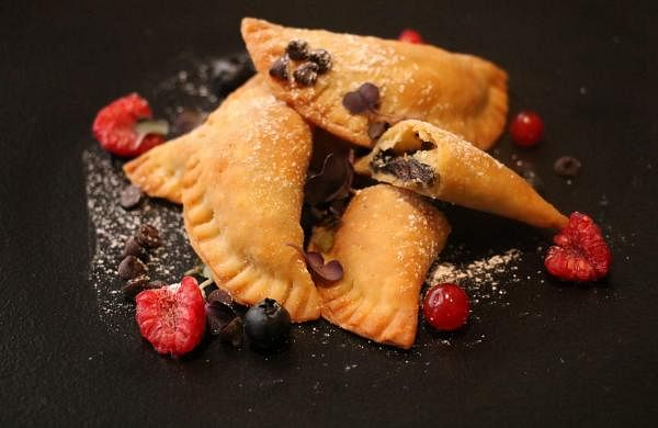 Baked Chocolate Empanadas at Novotel Hyderabad Convention Centre