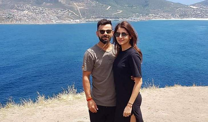 Kohli in a holiday mood after taking a break from the Bangladesh T20Is with his wife, Anushka Sharma
