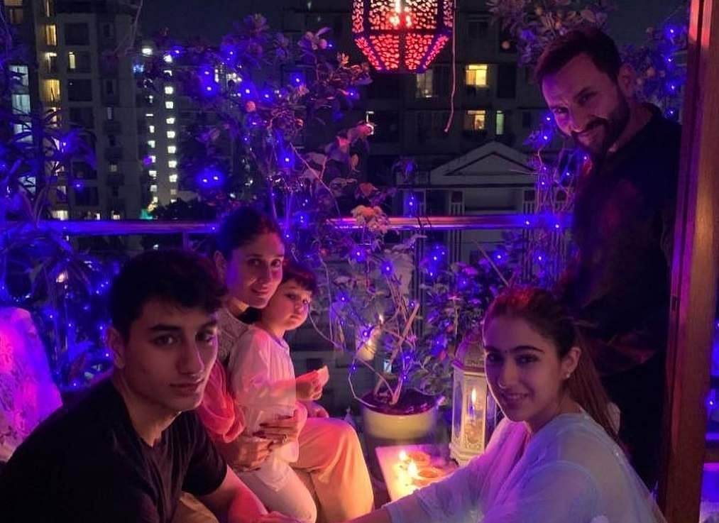 Sara Ali Khan's Diwali celebrations (Photo: IANS/Instagram)