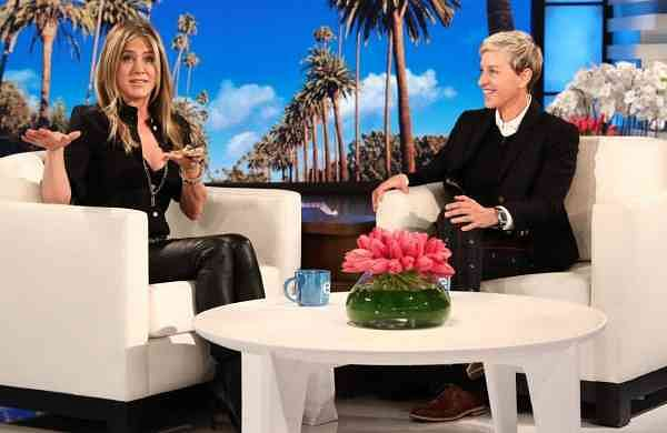 Actress Jennifer Aniston on the Ellen Show