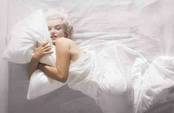 Marilyn Monroe Hugging Pillow by Douglas Kirkland