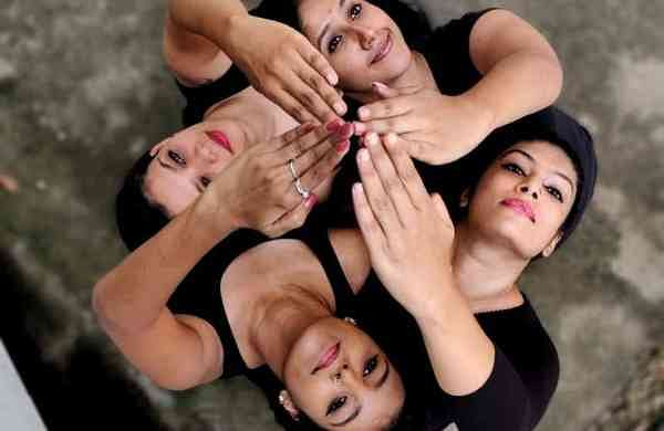 A dance ensemble from Natya STEM Dance Kampni